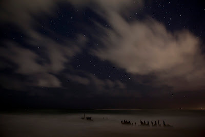 Dicky Beach under the stars