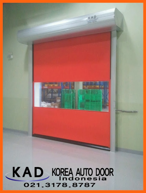 high speed door indonesia, orange color