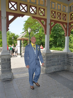 Groom Walks down the Aisle - Belvedere Castle Wedding