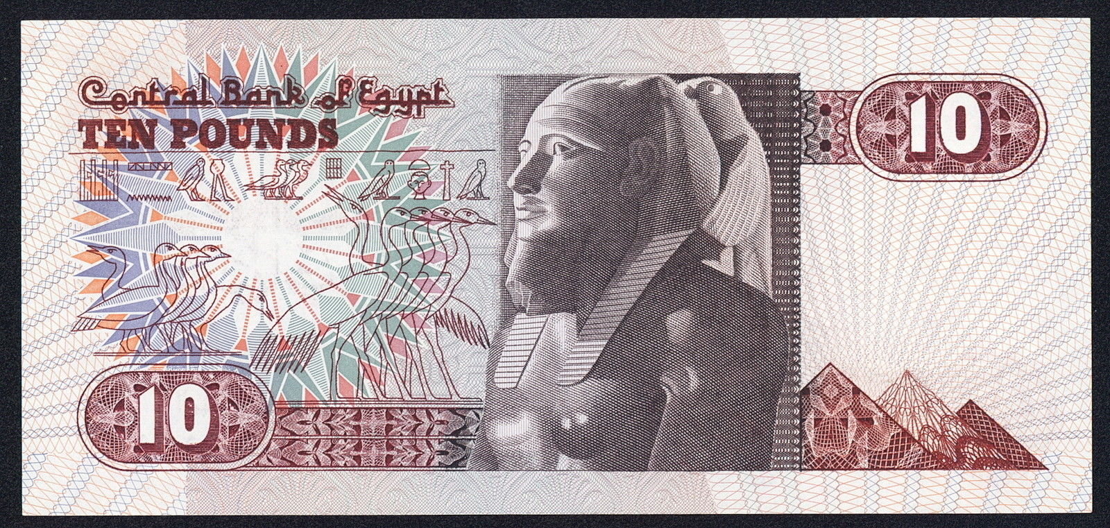 10 egyptian pounds note 1982world banknotes amp coins