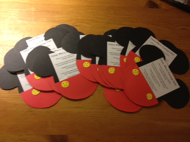 mommy's obsessions: diy: mickey mouse invitations, Birthday invitations