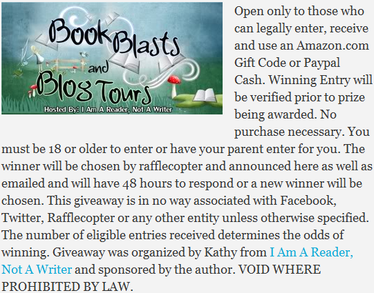 I Am A Reader Not A Writer giveaway conditions and rules