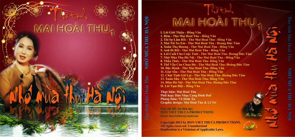 1) CD1: NHỚ MÙA THU HÀ NỘI (Gồm 14 Bài Thơ Diễn Ngâm)
