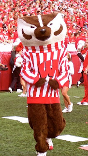 Bucky Badger would like to have a few words with Wisconsin AD Barry Alvarez.