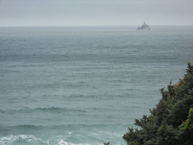 Tillamook Rock Lighthouse seen from Ecola State Park
