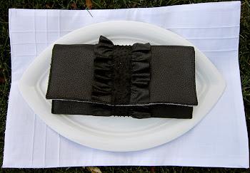 Leather Ruffle Envelope