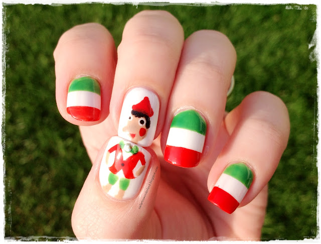 İtalya Bayrağı ve Pinokyo Nail Art / Italian Flag and Pinocchio Nail Art