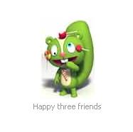 Happy three friend