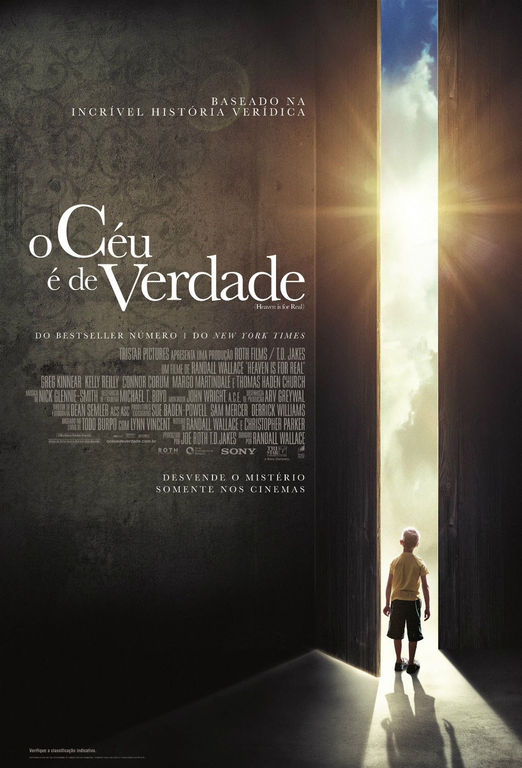 Pôster/capa/cartaz nacional de O CÉU É DE VERDADE (Heaven is for Real)