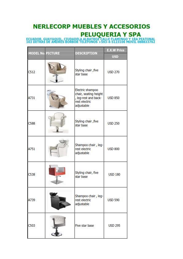 mobiliario para salones gabinetes y spa guayaquil