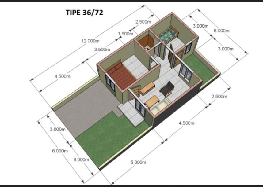 Rumah Ukuran 3660