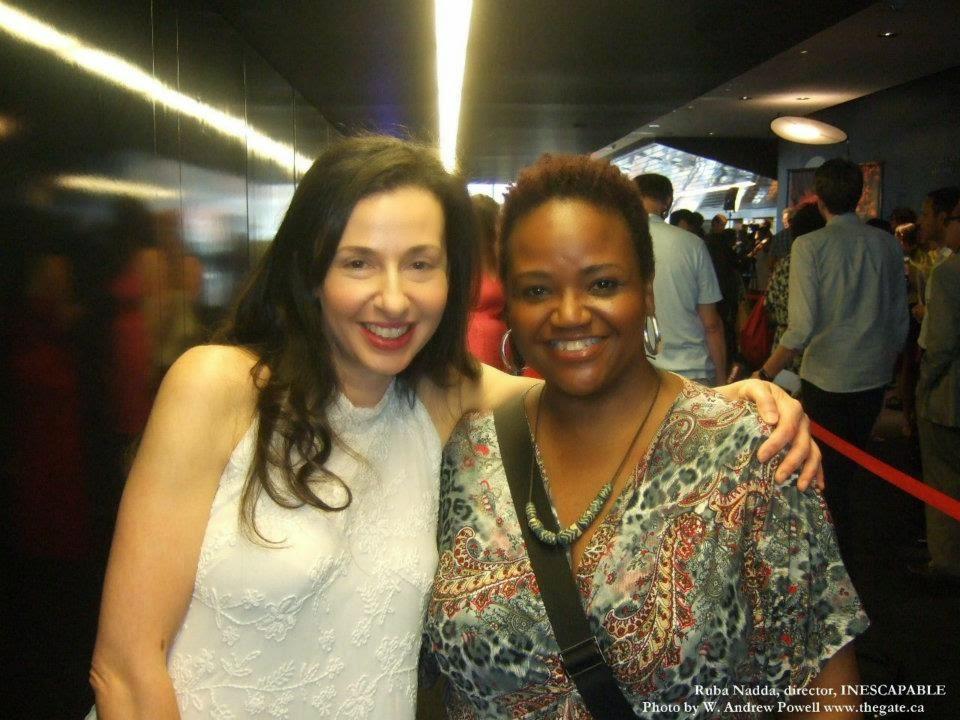 With director, Ruba Nadda
