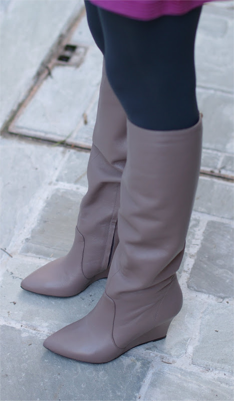 Patrizia Pepe, wedge boots, taupe boots, Fashion and Cookies
