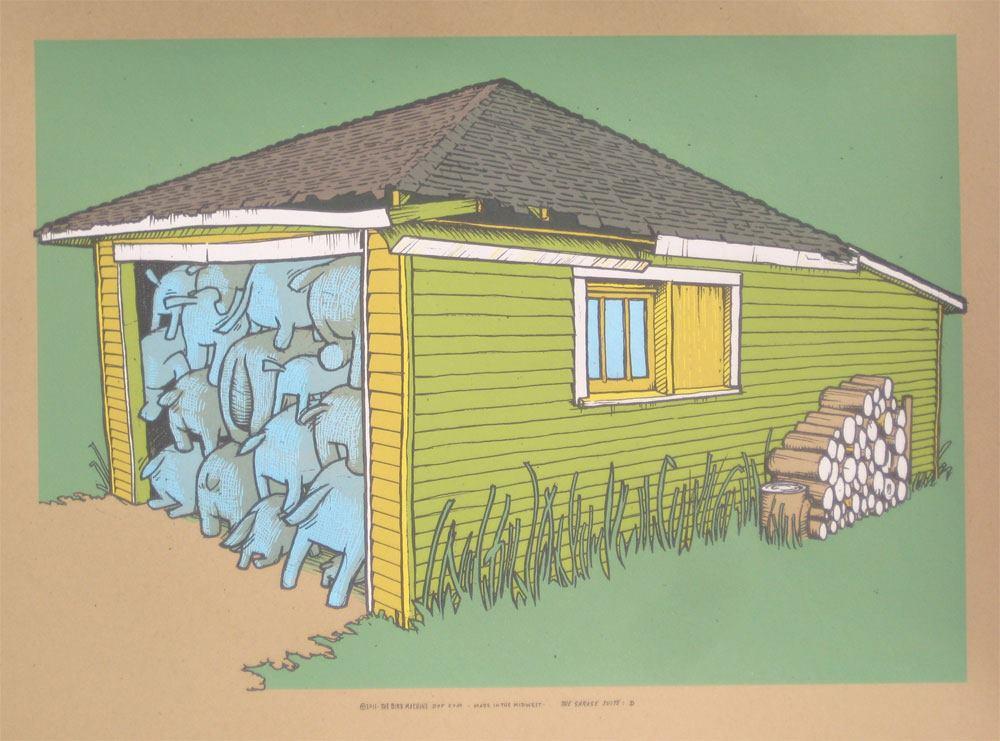 Inside the rock poster frame blog announcing the garage for Garage suite