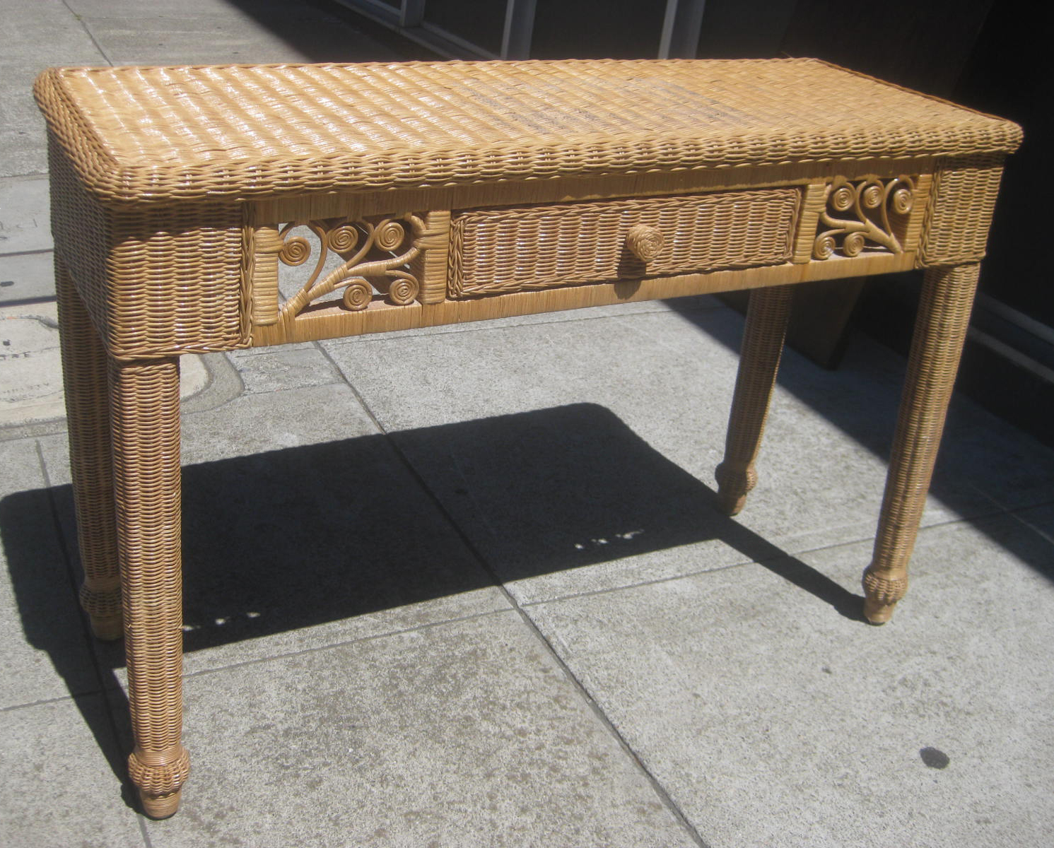 Uhuru furniture collectibles sold wicker console for Sofa table 70