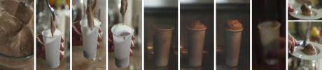 Chocomousse verandert na 20 seconden bakken in de microgolf in megasnelle chocoladecakejes