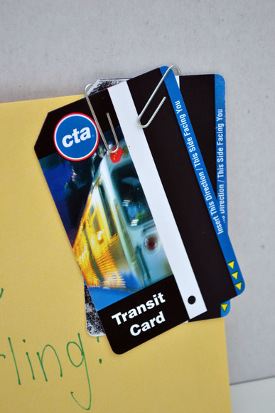 Some CTA passes are good your gift basket and useful for navigating the city.