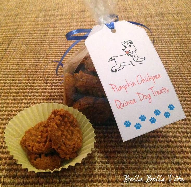 Pumpkin Chickpea Quinoa Dog Treat Recipe {Gluten Free}