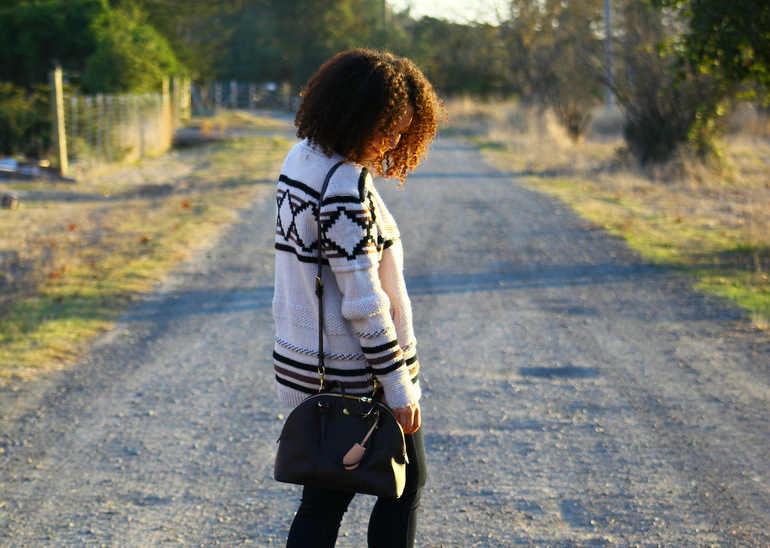 natural hair bloggers, california style, winter outfits, lovestitch sweater, liv fashion boutique