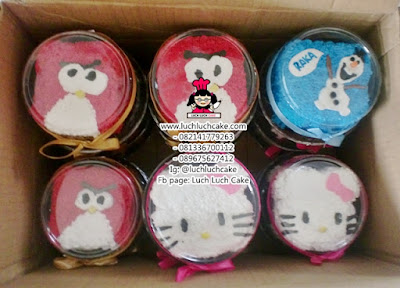 Mini Cake Angry Bird, Olaf, dan Hello Kitty