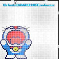 hama beads mini doraemon2