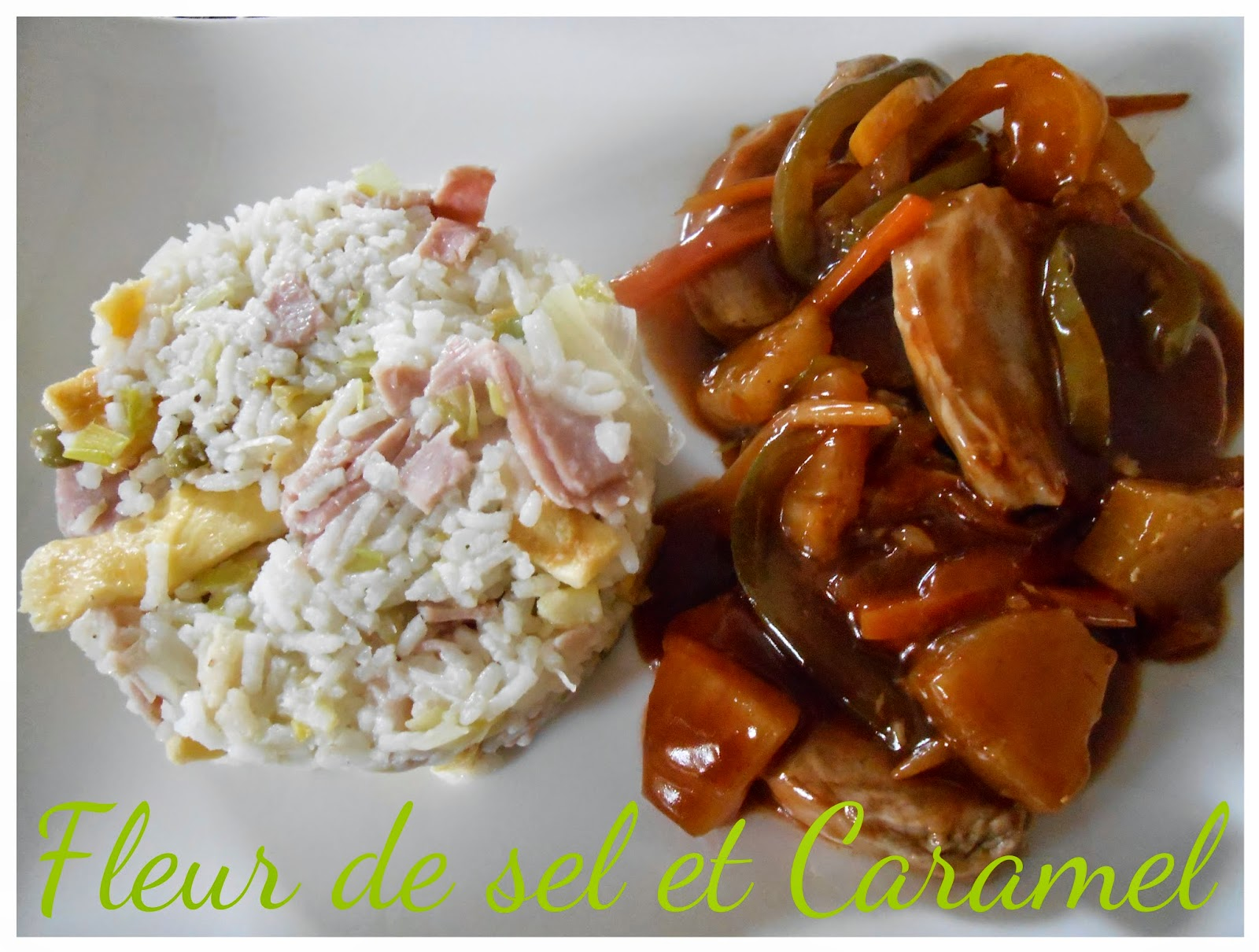 Riz cantonais - Porc aigre-douce