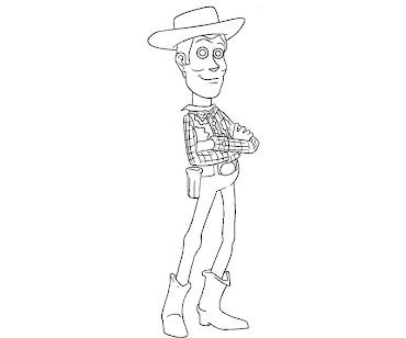 #8 Sheriff Woody Coloring Page