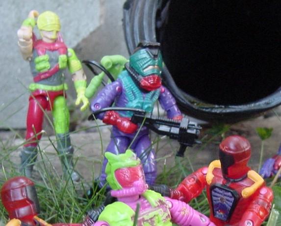 Funskool Toxo Viper, 2003 Inferno BAT, 1992 Toxo Zombie, Cyber Viper