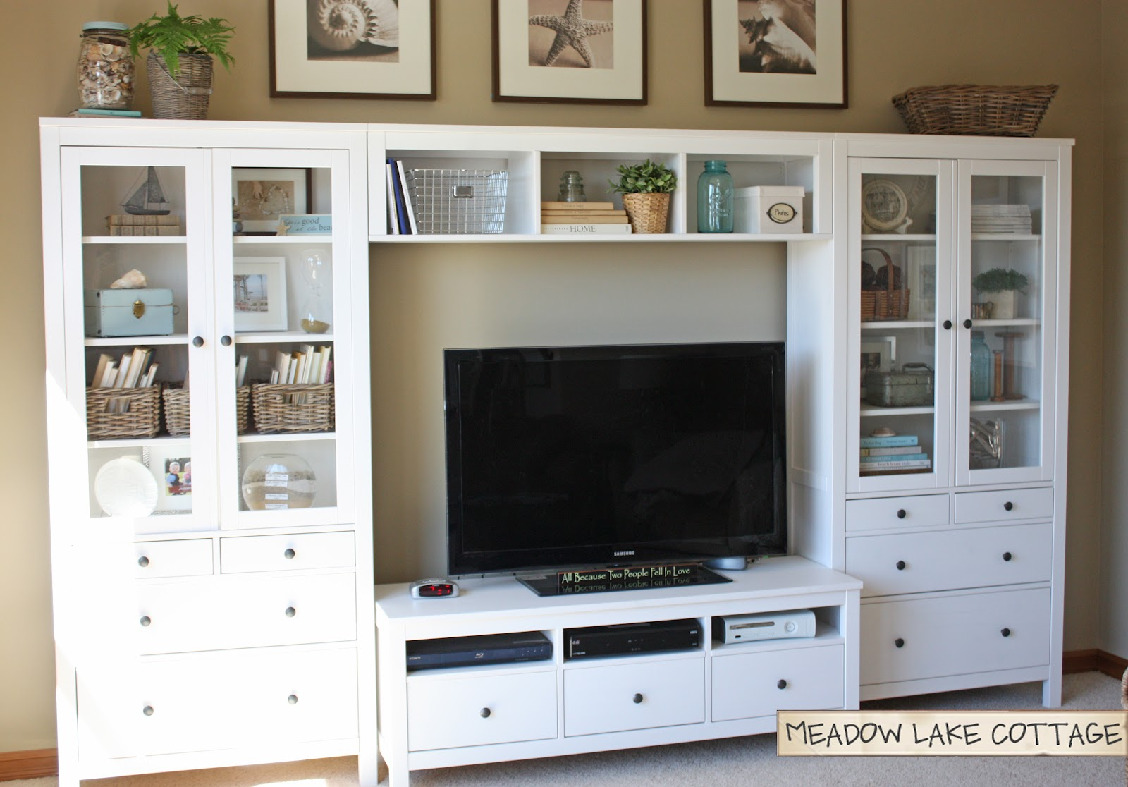 Image Result For White Bookcase With Baskets