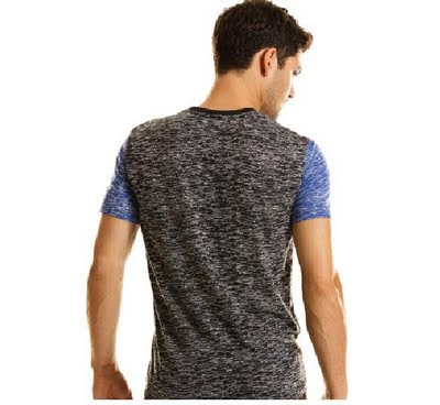 Man Fashion - Casual Heather Tee T-shirt by A|X (ARMANI EXCHANGE)