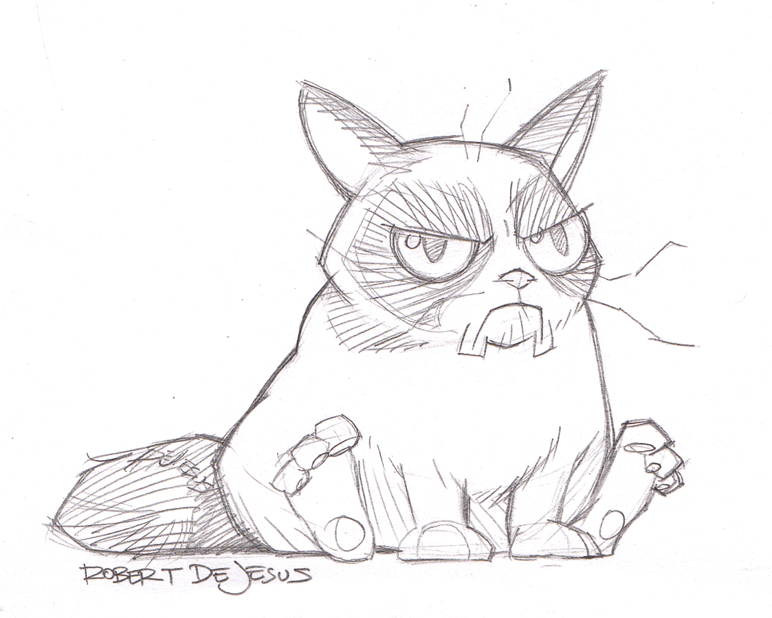 Free Grumpy Cat Coloring Pages