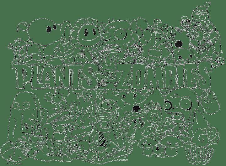 Imágenes de pintar de Plantas vs Zombies - Imagui