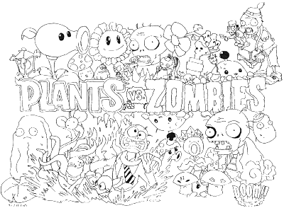 Plants vs zombies and this is free plants vs zombies coloring pages