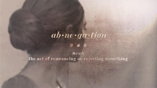 abnegation - renoncement à soi