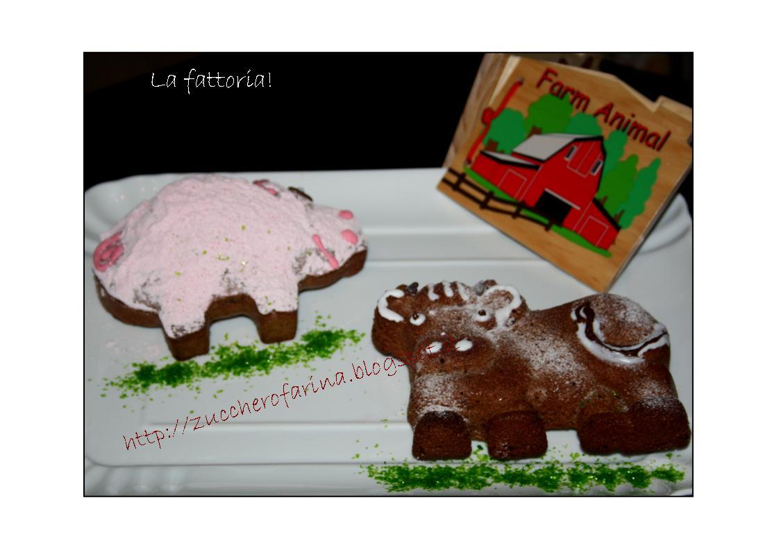 W la fattoria torta mucca e torta maiale semplici for Piccoli piani di fattoria a 2 piani
