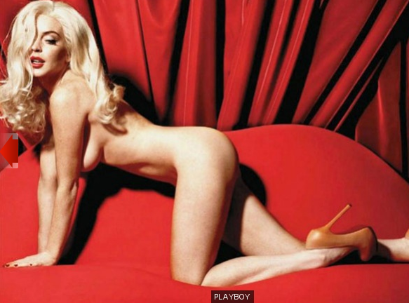 Линси лохан голая фото