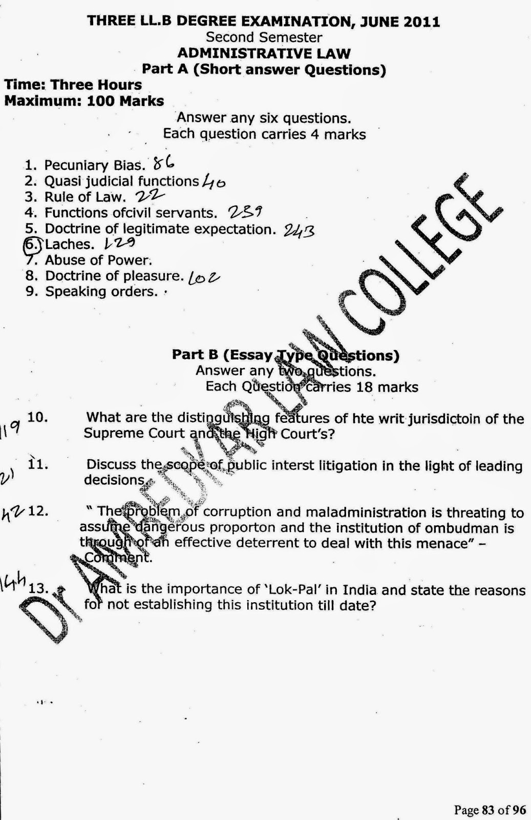 administrative law 2 essay Administrative findings given great weight in court sebastian f oasay  we will write a custom essay sample on administrative law philippines.