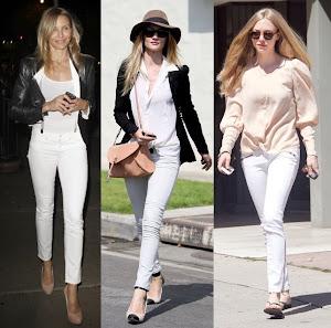 Kim demiş ' kışın beyaz pantolon giyilmez' diye