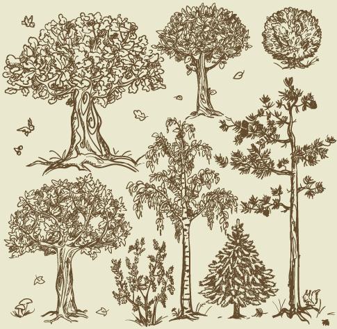 árboles en clipart