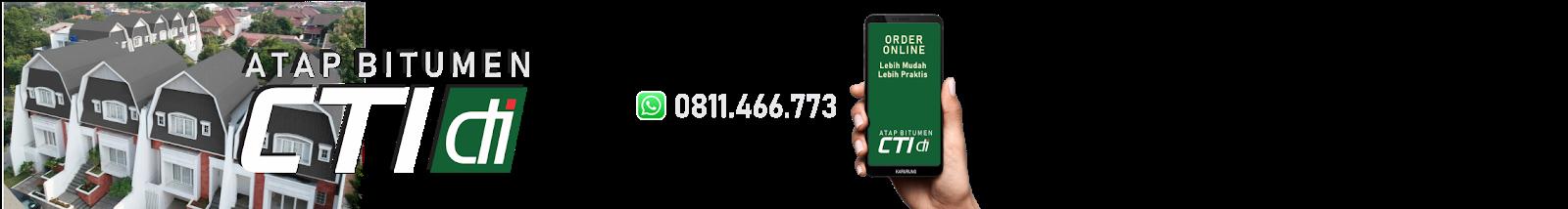 ATAP BITUMEN CTI | GENTENG ASPAL CTI | ORDER CP.WA +62 811466773