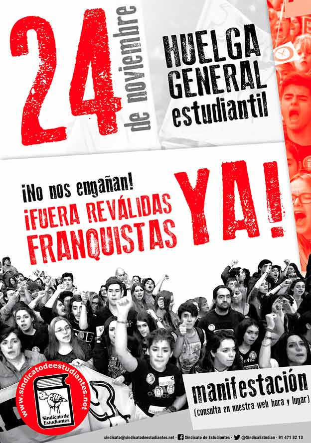 24 de noviembre: HUELGA GENERAL estudiantil