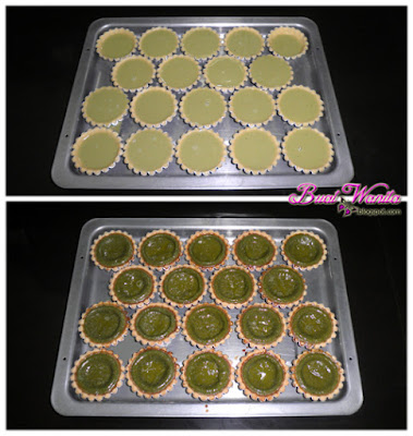 Resepi Mudah Green Tea Egg Tart Telur Teh Hijau. Cara Buat Tart Telur Teh Hijau. Cara Buat Green Tea Egg Tart. Simple Sedap Senang