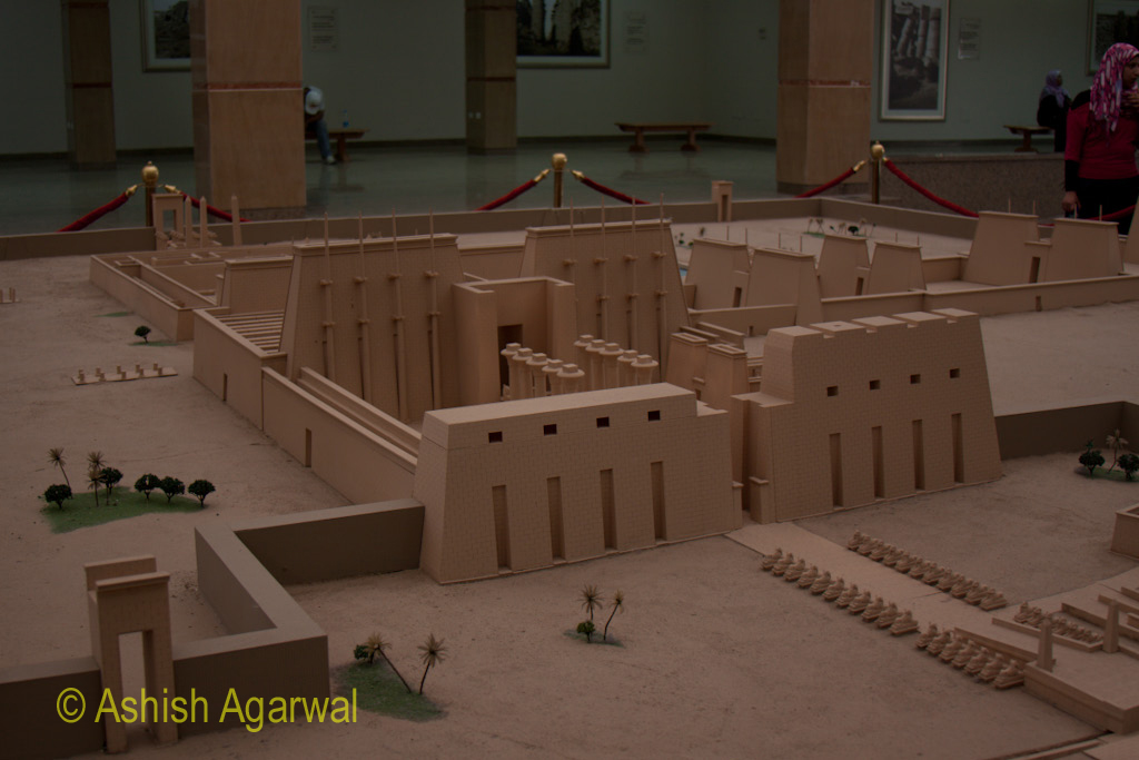 A bigger view of the model of the Karnak temple at Luxor