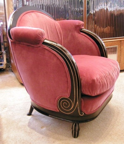 Genial 1930u0027s Art Deco French Mahogany Chair