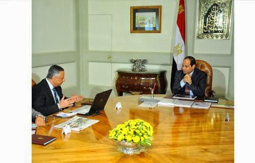 الرئيس عبد الفتاح السيسي ,الدكتور محمود أبو النصر وزير التربية والتعليم
