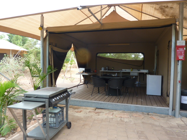 There are 2 BBQ areas - one near the villas which only has a BBQ  other other nearer to the garden tents. This one not only has a BBQ but also ... & Sheilau0027s Wanderings: Eco Beach Resort Broome - summed up