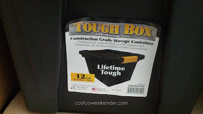 Tough Box 12 Gallon Latching Tote – Stackable, functional