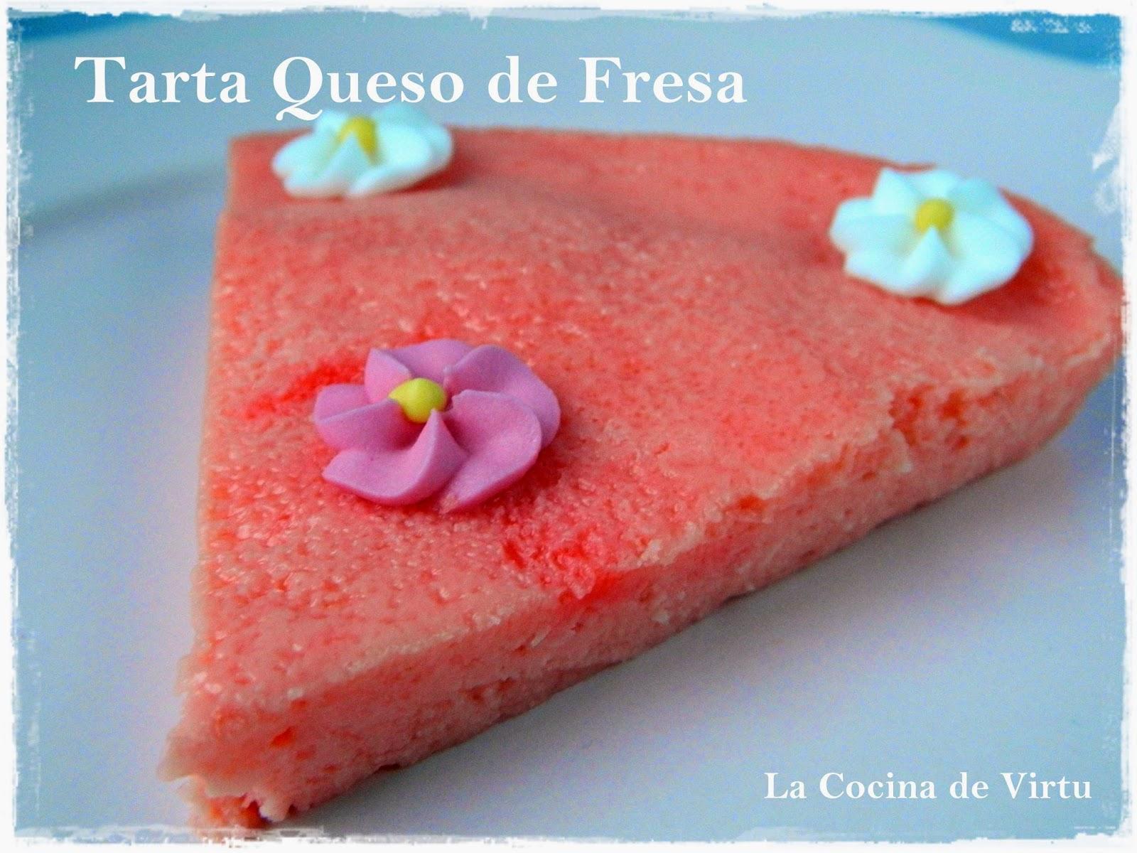 Tarta de queso de Fresa