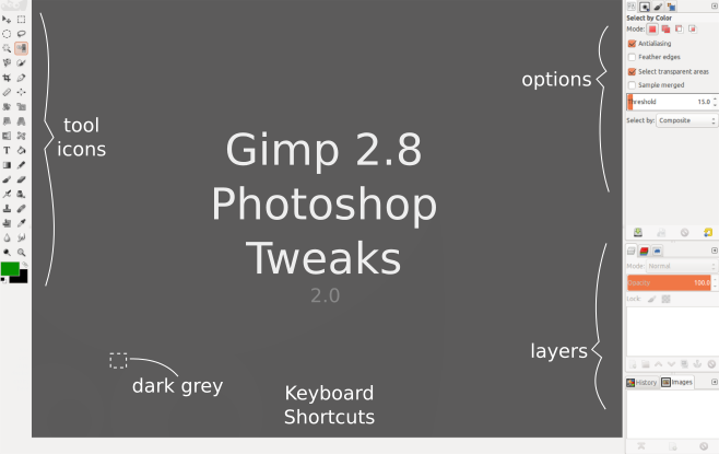Gimp photohsop tweaks