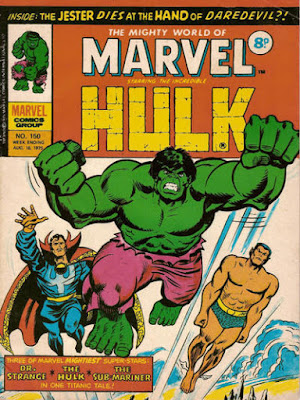 Mighty World of Marvel #150, the Defenders